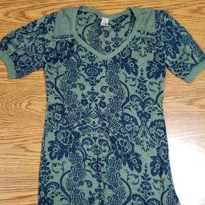 Green/blue burnout short sleeve